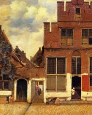 The Little Street by Johannes Vermeer Framed Print on Canvas