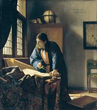 The Geographer by Johannes Vermeer Framed Print on Canvas