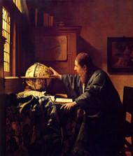 The astronomer by Johannes Vermeer Framed Print on Canvas