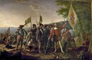 Landing of Columbus by John Vanderlyn Framed Print on Canvas