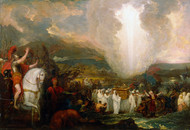 Joshua passing the River Jordan with the Ark of the Covenant 1800 by Benjamin West Framed Print on Canvas