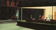 Nighthawks by Edward Hopper Framed Print on Canvas