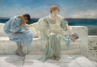 Ask Me No More 1906 by Lawrence Alma Tadema Framed Print on Canvas