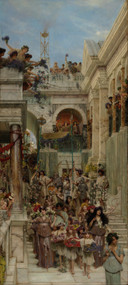 Spring 1894 by Lawrence Alma Tadema Framed Print on Canvas