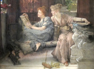 Comparison 1892 by Lawrence Alma Tadema Framed Print on Canvas