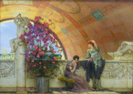 Unconscious Rivals 1893 by Lawrence Alma Tadema Framed Print on Canvas