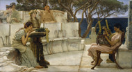 Sappho and Alcaeus 1881 by Lawrence Alma Tadema Framed Print on Canvas