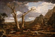 Elijah in the Desert 1818 by Washington Allston Framed Print on Canvas