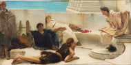 A Reading from Homer 1885 by Lawrence Alma Tadema Framed Print on Canvas