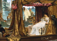 The Meeting of Antony and Cleopatra, 41 B.C. 1885 by Lawrence Alma Tadema Framed Print on Canvas