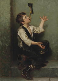 The Juggler 1882 by John George Brown Framed Print on Canvas