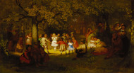 Picnic Party in the Woods 1872 by John George Brown Framed Print on Canvas