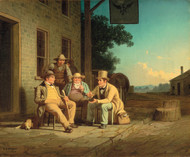 Canvassing for a Vote 1852 by George Caleb Bingham Framed Print on Canvas