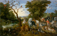 The Entry of the Animals into Noah's Ark 1613 by Jan Brueghel the Elder Framed Print on Canvas