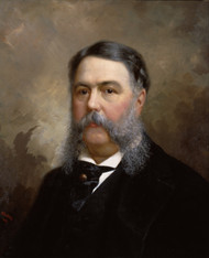 Chester A. Arthur 1881 by Ole Peter Hansen Balling Framed Print on Canvas