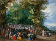The Sermon on the Mount 1598 by Jan Brueghel the Elder Framed Print on Canvas