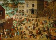 Children's Games 1560 by Pieter Brueghel the Elder Framed Print on Canvas