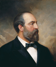 Portrait of James Garfield, 20th President of the United States 1881 by Ole Peter Hansen Balling Framed Print on Canvas