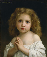 Little Girl 1878 by William Adolph Bouguereau Framed Print on Canvas