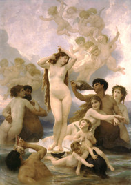 Naissance de Venus Birth of Venus by William Adolph Bouguereau Framed Print on Canvas