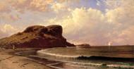 Castle Rock, Nahant, Massachusetts 1877 by Alfred Thompson Bricher Framed Print on Canvas