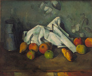 Milk Can and Apples 1879 by Paul Cezanne Framed Print on Canvas