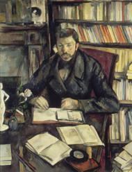 Gustave Geffroy 1895 by Paul Cezanne Framed Print on Canvas
