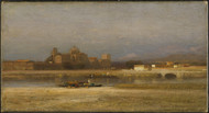 On the Viga, Outskirts of the City of Mexico 1892 by Samuel Colman Framed Print on Canvas