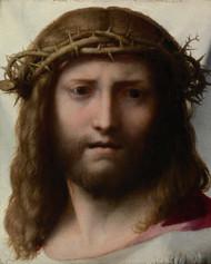 Head of Christ 1525 by Antonio Allegri Corregio Framed Print on Canvas