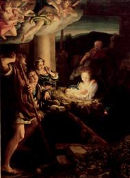 The Holy Night 1522 by Antonio Allegri Corregio Framed Print on Canvas