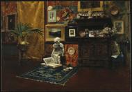Studio Interior 1882 by William Merritt Chase Framed Print on Canvas