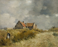 Cottage in the Dunes by Jean-Charles Cazin Framed Print on Canvas