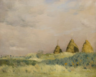 The three stacks by Jean-Charles Cazin Framed Print on Canvas