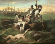 Watson and the Shark 1778 by John Singleton Copley Framed Print on Canvas