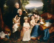 The Copley Family 1776 by John Singleton Copley Framed Print on Canvas