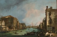 Grand Canal Venice 1724 by Canaletto, Framed Print on Canvas