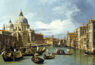 The Entrance to the Grand Canal, Venice 1730 by Canaletto, Framed Print on Canvas