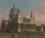 St. Paul's Cathedral 1754 by Canaletto, Framed Print on Canvas