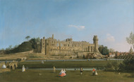 Warwick Castle 1748 by Canaletto, Framed Print on Canvas