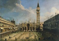 The Piazza San Marco in Venice 1723 by Canaletto, Framed Print on Canvas
