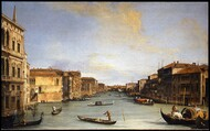 View of the Grand Canal 1726 by Canaletto, Framed Print on Canvas