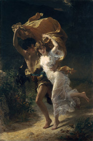The Storm 1880 by Pierre Auguste Cot Framed Print on Canvas