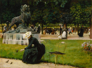 In the Luxembourg Garden 1889 by Charles Courtney Curran Framed Print on Canvas