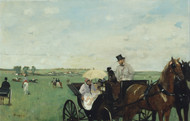 At the Races in the Countryside 1869 by Edgar Degas Framed Print on Canvas