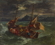 Christ on the Sea of Galilee 1854 by Eugene Delacroix Framed Print on Canvas
