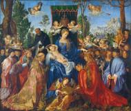 Feast of Rose Garlands 1506 by Albrecht Durer Framed Print on Canvas