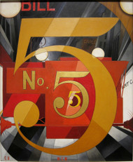 The Figure 5 in gold 1928 by Demuth. Charles Framed Print on Canvas