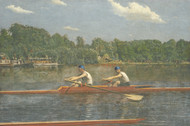 The Biglin Brothers Racing 1872 by Thomas Eakins Framed Print on Canvas