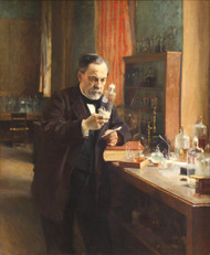 Portrait of Louis Pasteur in his Laboratory 1885 by Albert Edelfelt Framed Print on Canvas