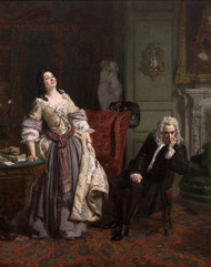 Pope Makes Love To Lady Mary Wortley Montagu 1852 by William Powell Frith Framed Print on Canvas